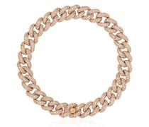 18kt Rotgoldarmband mit Diamanten-Pavé