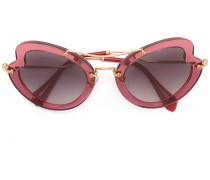 - Gewellte Sonnenbrille - women - Acetat