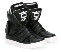 hi-top logo sneakers