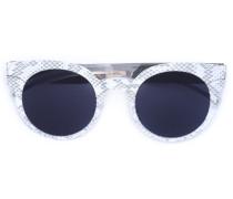'Maison Margiela' Sonnenbrille mit Pythonleder-Optik