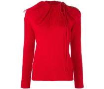 removable pleat collar jumper