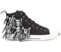 'Skull' High-Top-Sneakers