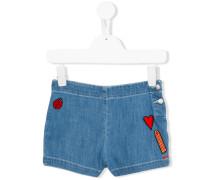 Jeansshorts mit Patches - kids