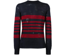 Pullover in Distressed-Optik - men - Wolle - L