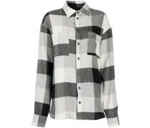 Oversized-Hemd mit Karomuster