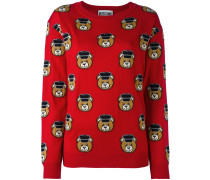 Toy bear intarsia jumper