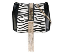 zebra print satchel - women