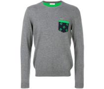 Pullover mit kontrastierendem Patch