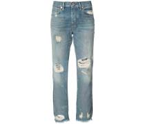Cropped-Jeans mit Distressed-Optik