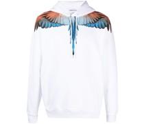 Hoodie mit Flügel-Print
