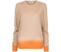 two tone crew neck sweater