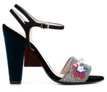 Sandalen mit Blumendetail