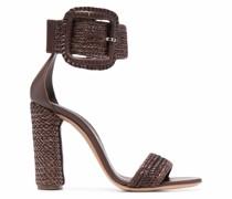 Sandalen mit verwobenen Riemen