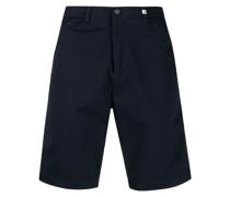 Samt-Shorts mit geradem Bein