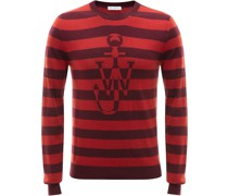 Jacquard-Pullover mit rundem Ausschnitt