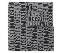 Schal mit Intarsien-Logos