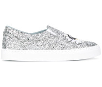SlipOnSneakers mit Glitzer