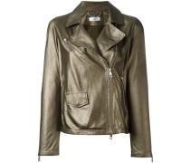 zip up jacket - women - Baumwolle/Leder - 44