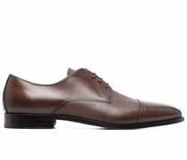 Oxford-Schuhe mit strukturiertem Einsatz