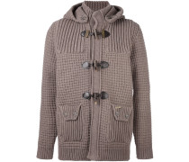 knitted duffle cardigan