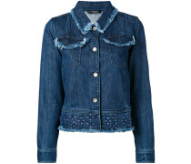 - Jeansjacke mit Blumenapplikation - women