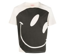T-Shirt mit Smiley-Print