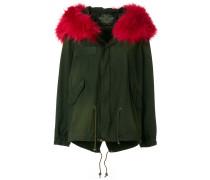 detachable fur hood parka jacket