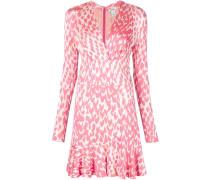 Kleid mit Print und gerüschtem Saum