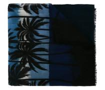 Wollschal mit PalmenPrint