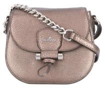 foldover metallic crossbody bag - women