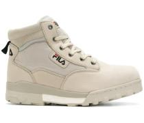 Grunge mid-top sneakers