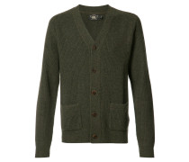 patch pockets buttoned cardigan