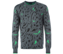 Pullover mit Tiger-Print