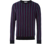 Gewebter Pullover mit Streifenmuster