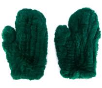 rabbit fur mittens