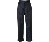 cropped polka dot trousers