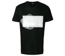 T-Shirt mit Netz-Print