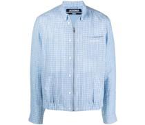 Le Blouson Hemd mit Gittermuster