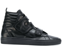 ribbed touch strap hi-top sneakers