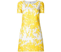 Florales Kleid mit gewelltem Saum