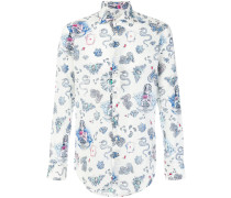 paisley mixed print shirt