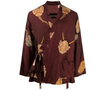 Kimono mit grafischem Print