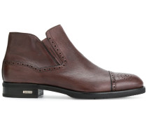 brogue toe ankle boots