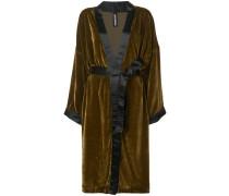 Mantel mit Samtoptik
