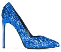sequin embellished pumps