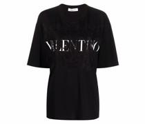 T-Shirt mit Spitzeneinsätzen