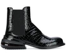 Chelsea-Boots mit Kroko-Optik