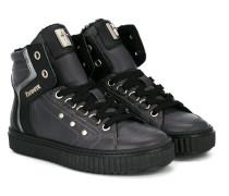 High-Top-Sneakers mit Metallic-Schild