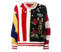 Pullover mit Katzen-Print