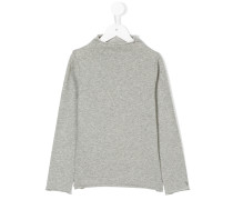 Pullover mit eingerolltem Kragen
